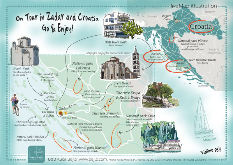 kaart-Zadar