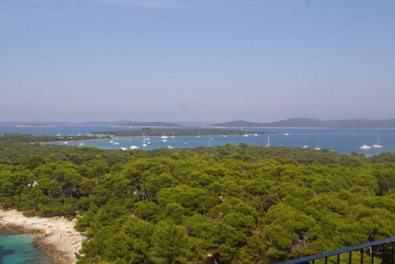 eiland Dugi Otol, zicht vanuit vuurtoren