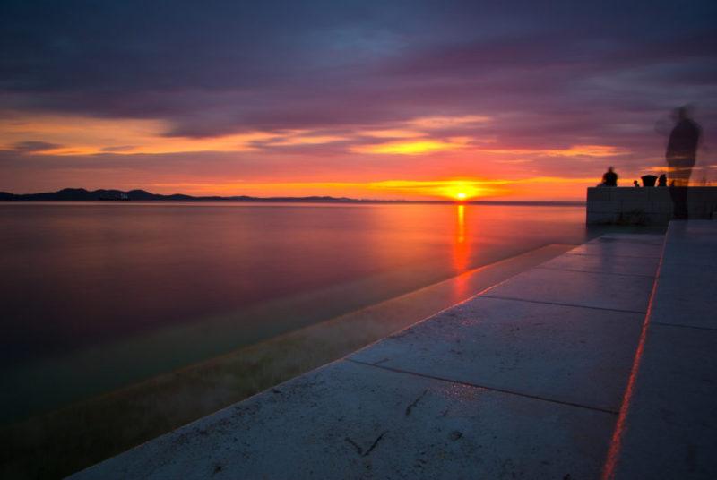 Zadar heeft de mooiste zonsondergang ter wereld