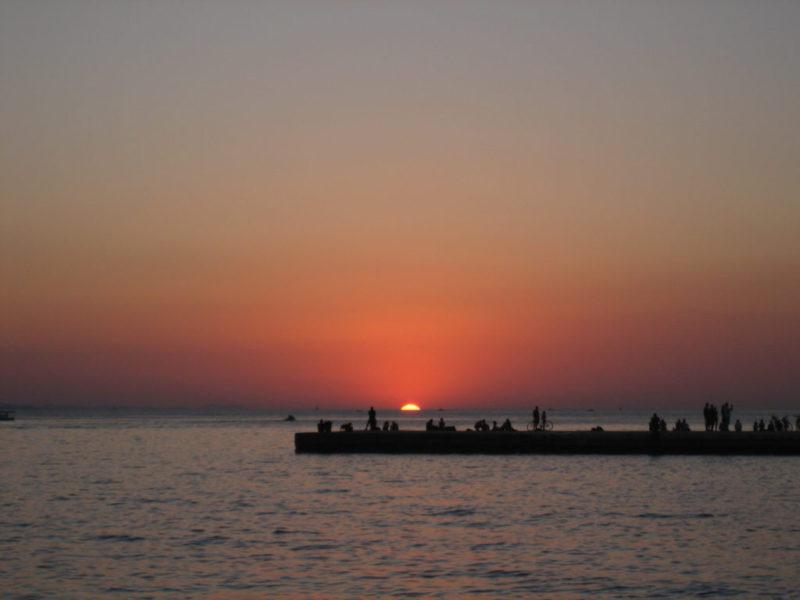 zonsondergang-riva-zadar