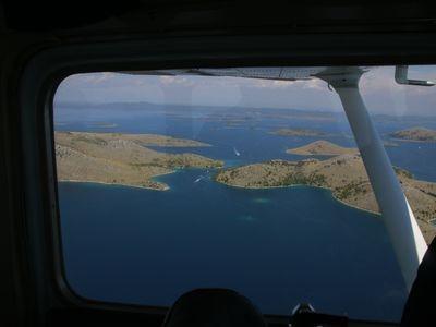 luchtfoto kornati eilanden