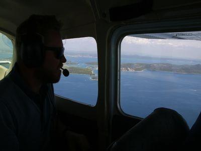 luchtfoto eilanden zadar
