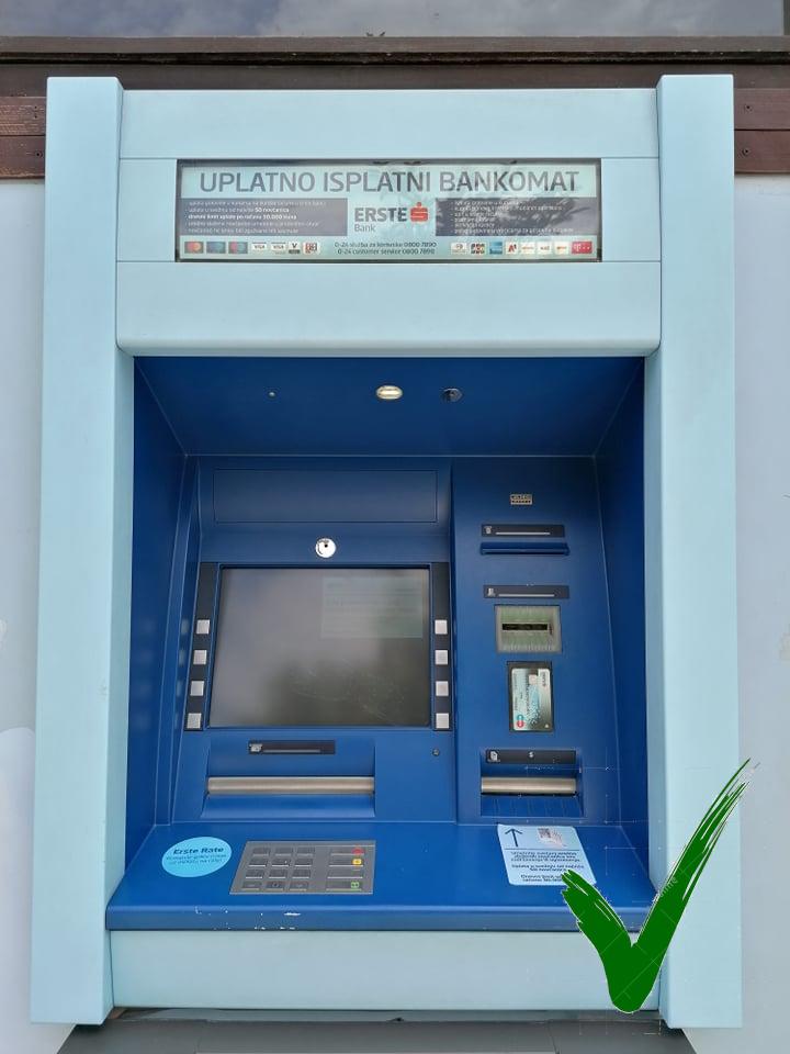 Bankautomaat Erste Banke
