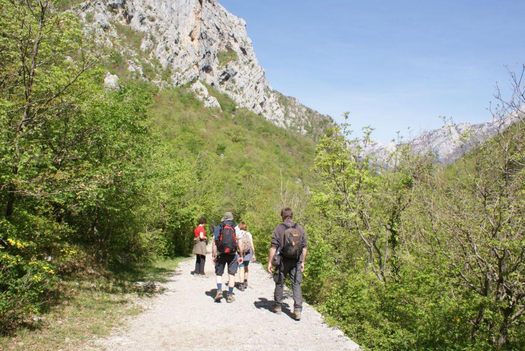 wandeling in het nationaalpark Paklenica