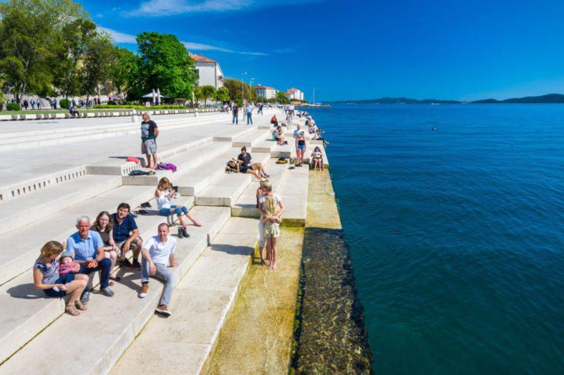 Het zeeorgel aan de Riva in Zadar