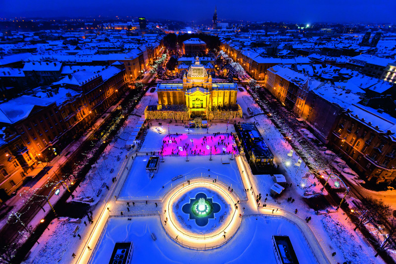 King Tomislav Square schaatsbaan