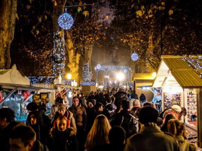 Zrinjevac Park kerstmarkt