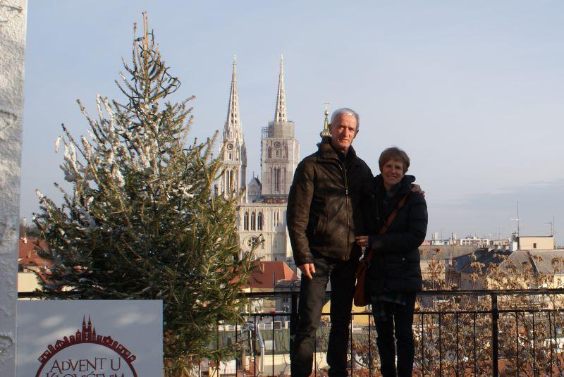 kathedraal van Zagreb kerst