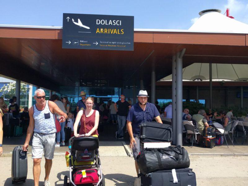 luchthaven Zadar aankomst