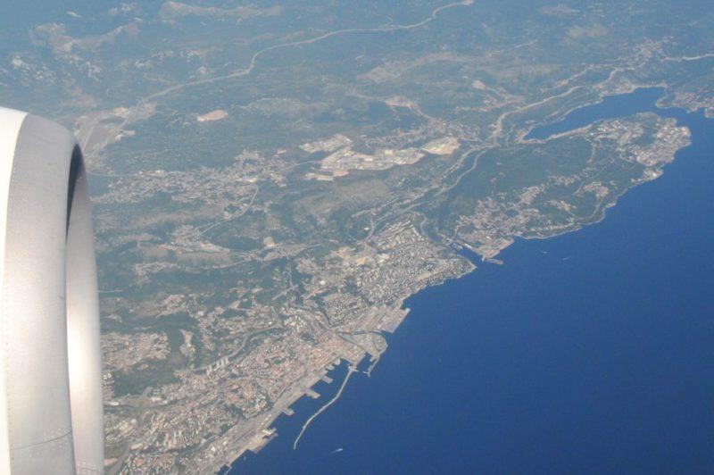 Adriatische zee luchtfoto