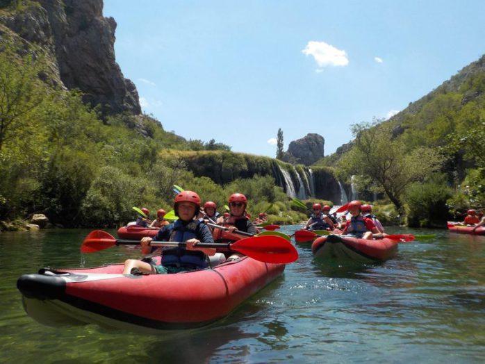 Kajak Zrmanja rivier