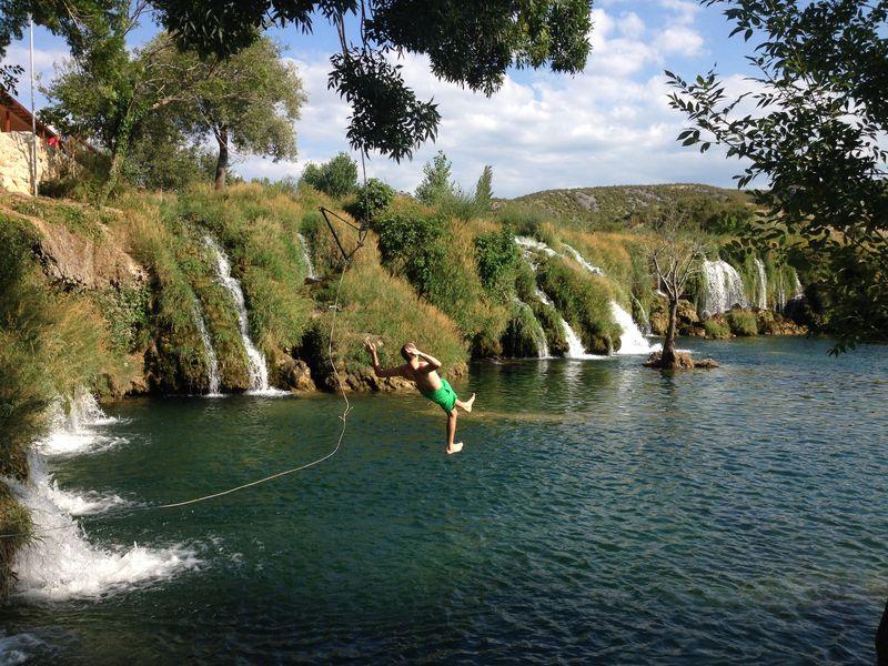 Zrmanja rivier Muškovci