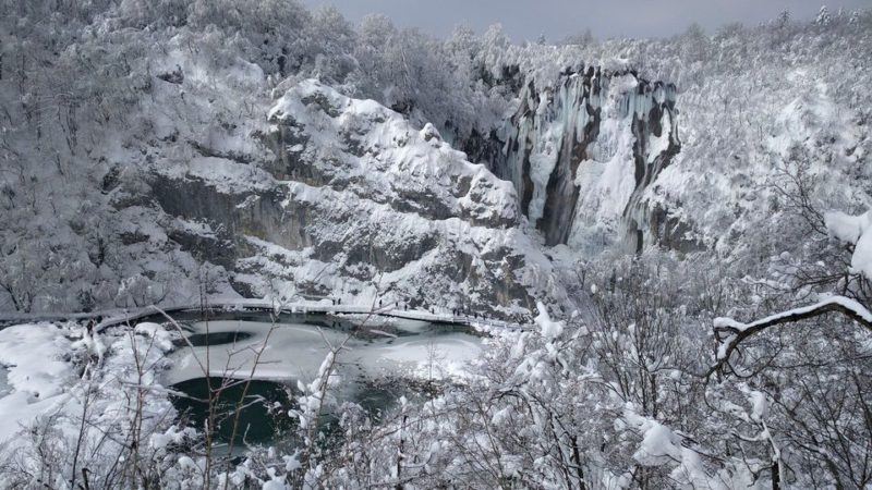 Plitvice meren in Winter