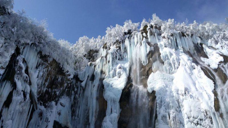 Grote waterval in Plitvice Veliki Slap
