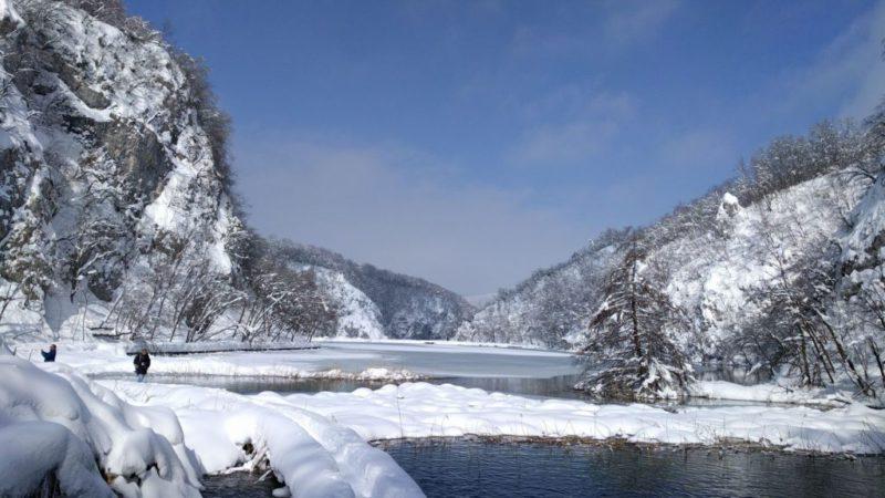 witte wereld van Plitvice
