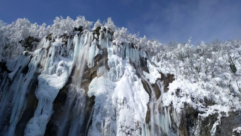 Nationaal park Plitvice meren in de winter