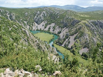 Krupa rivier uitzicht