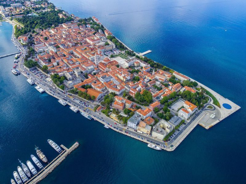 Zadar luchtfoto