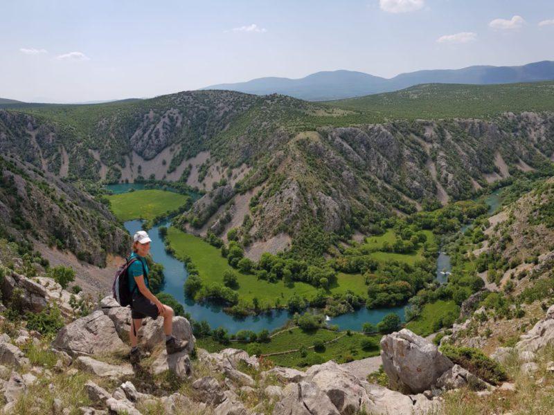 Krupa rivier Velebit panorama