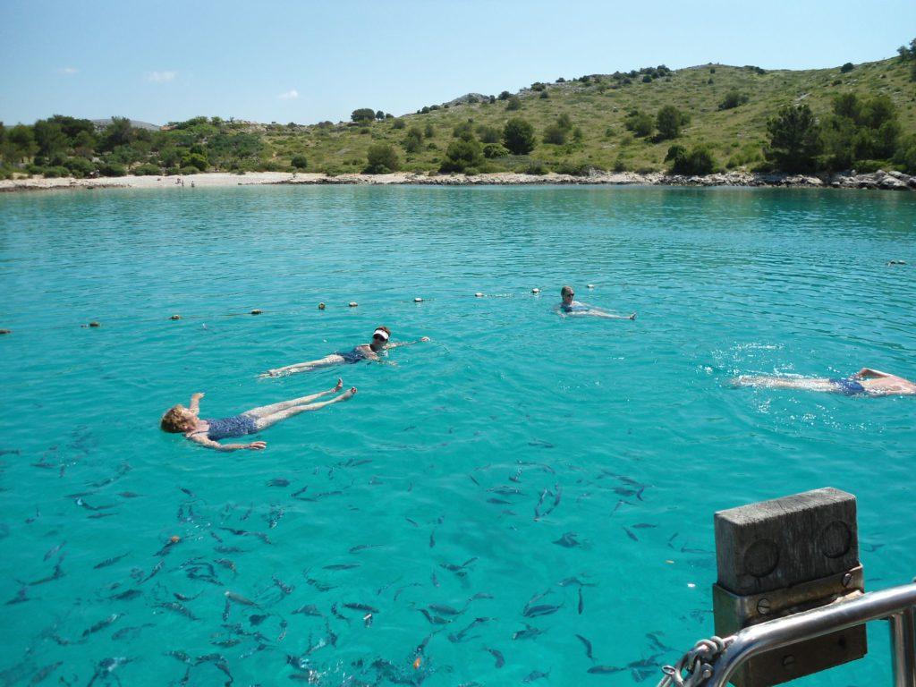 zwemmen en zeilen Kornati