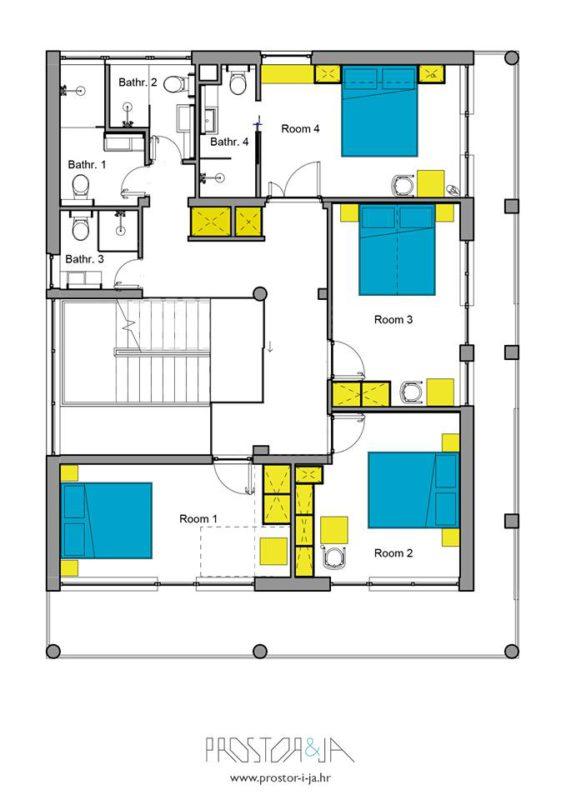 grondplan eerste verdieping