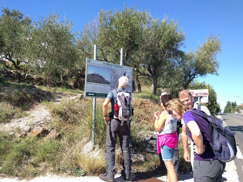 Start wandeling in Ugljan