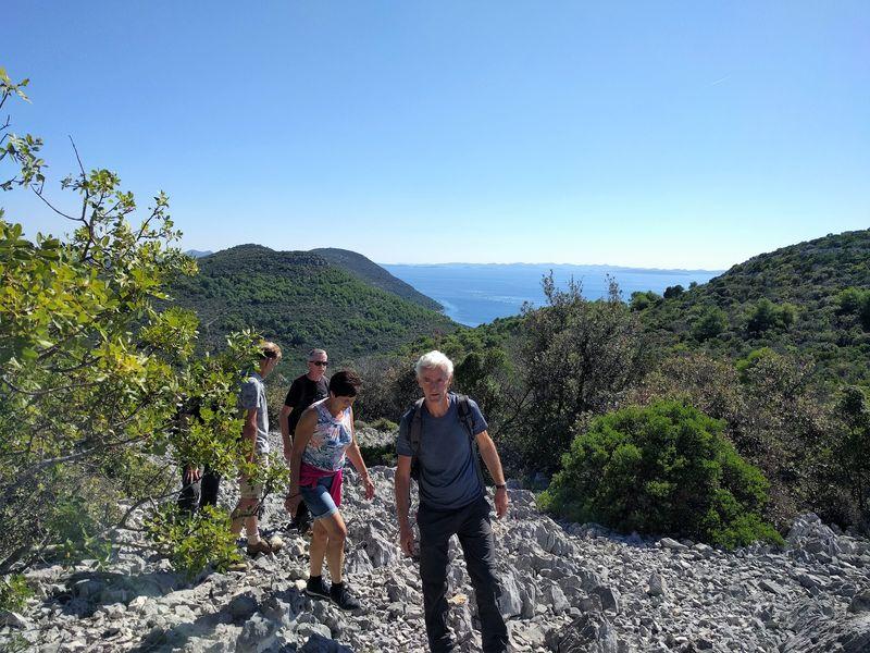 De rotsen van Ugljan