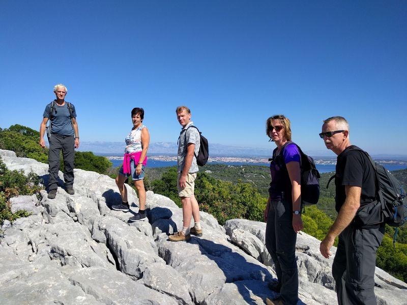 op de top van het eiland Ugljan