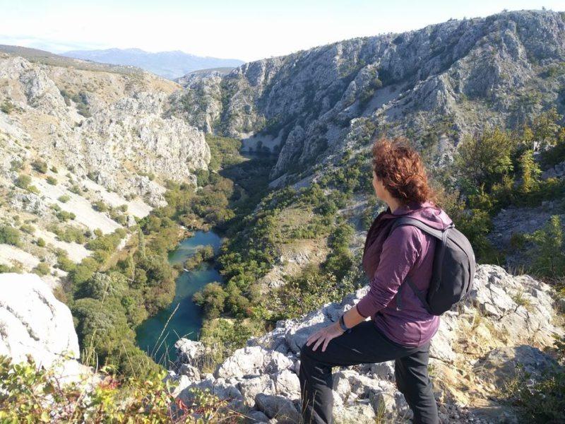 krupa rivier in het velebit gebergte, wandelen van Kuca Bajlo