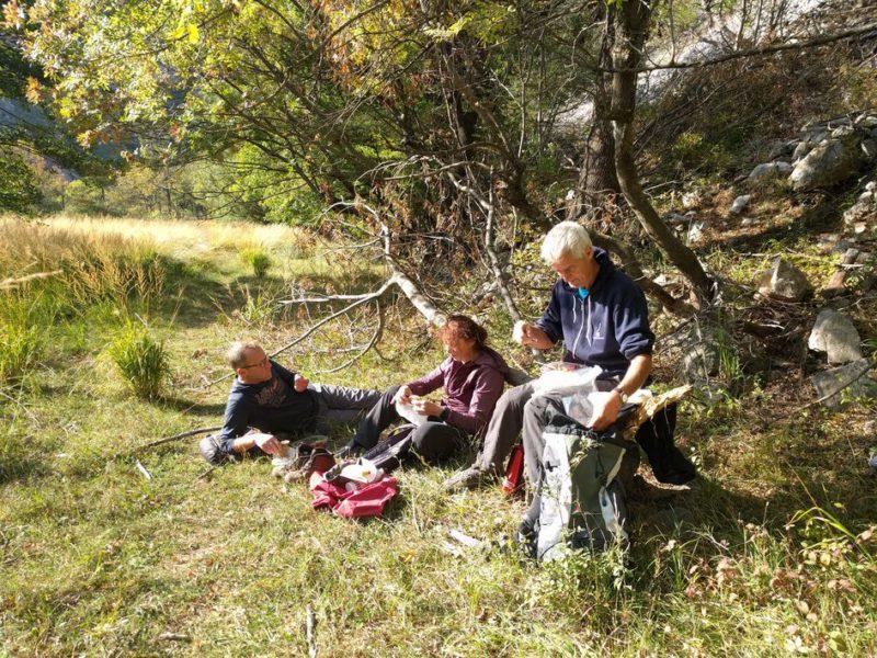 picknick aan de krupa rivier