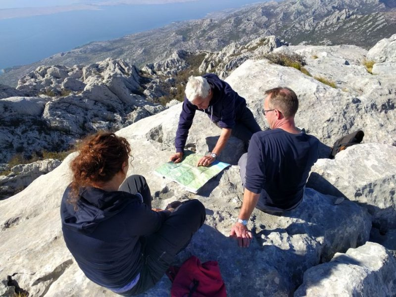 Op de top van Bojin Kuk Velebit