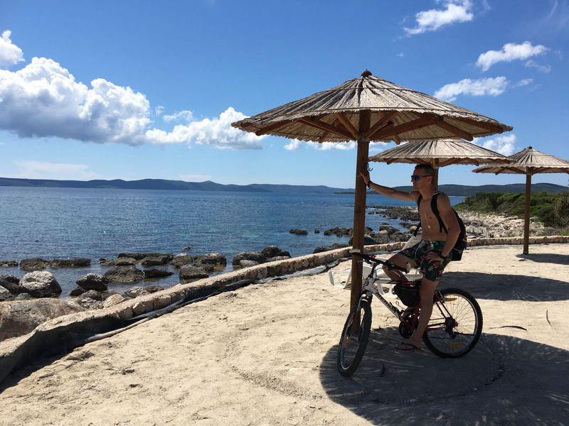 mountainbike op eiland Ugljan