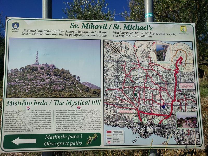 plan van de berg van Sv. Mihovil