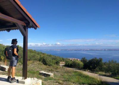 Uitzicht van Ugljan naar Zadar