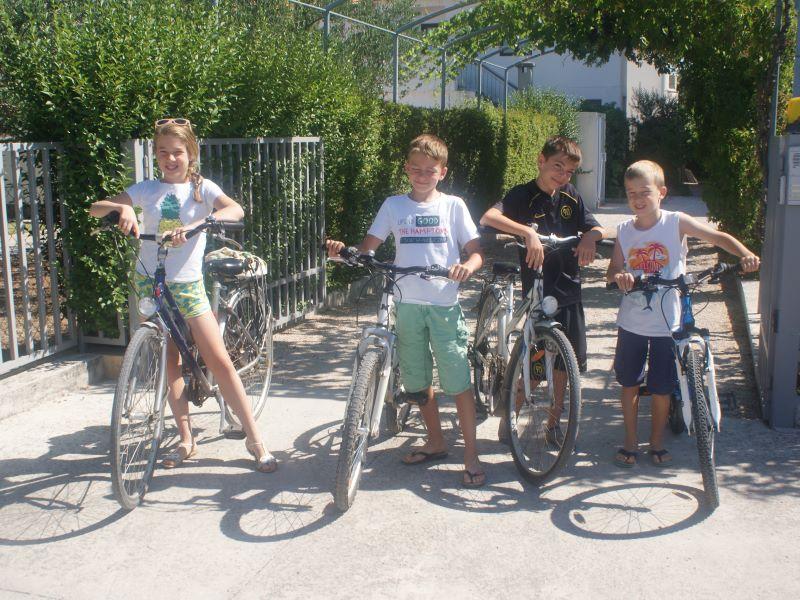 kinderen op vakantie in zadar, fietstocht