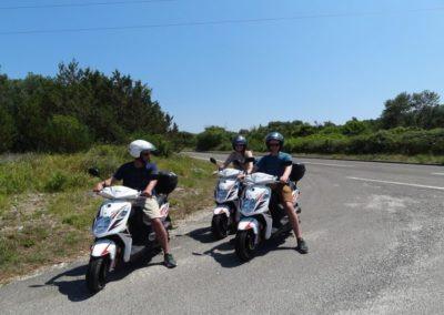scooter op Dugi Otok