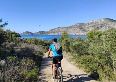eiland Lastovo, struga, fietspad