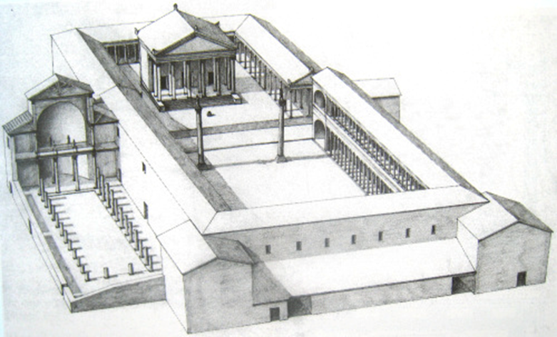 Forum Zadar in romeinse periode
