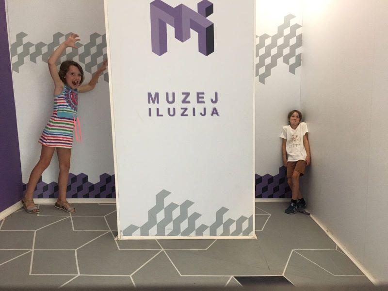 illusions museum, vakantie met kinderen in Kroatië