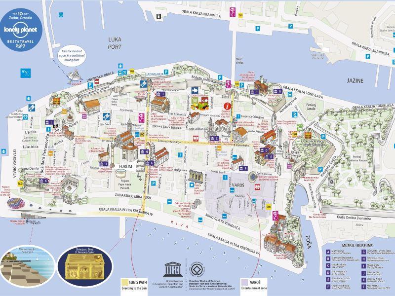 grondplan Zadar