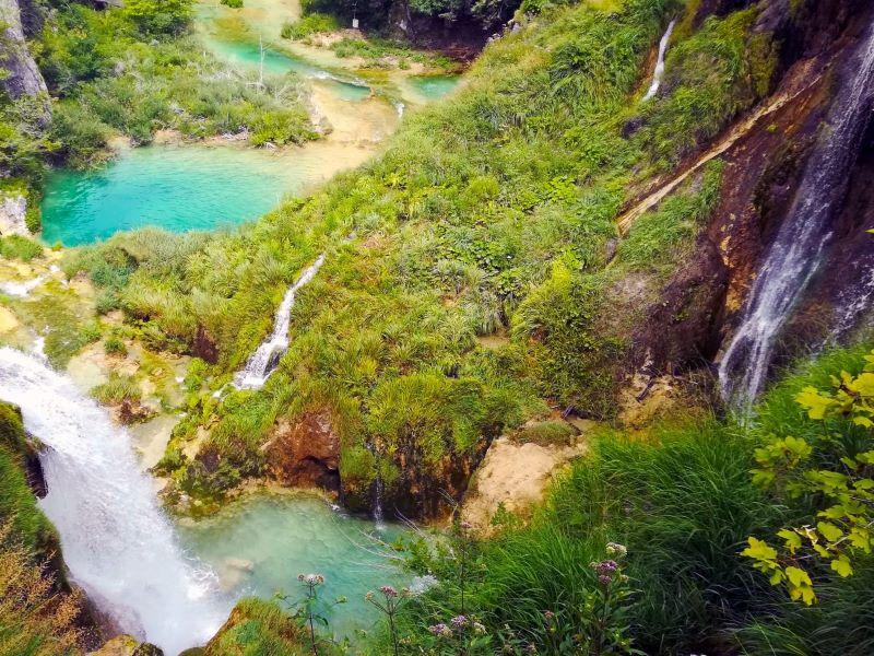 Plitvice meren, parken in Kroatië