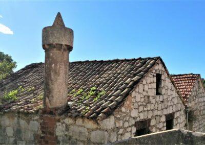 schoorstenen in Lastovo
