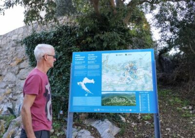 wandeling op eiland Lastovo, to the past