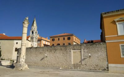 De schandpaal op het forum in Zadar