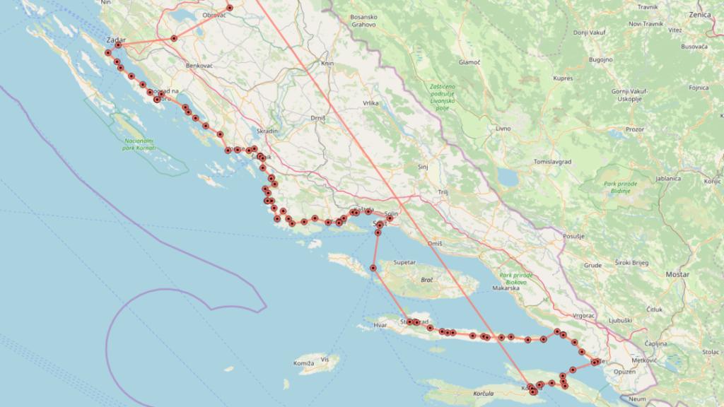 Eurovelo 8, fietsroute langs de Adriatische zee.