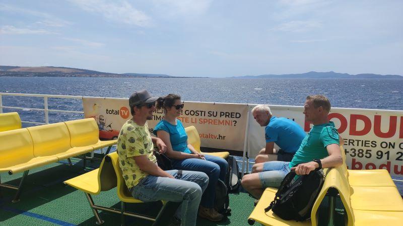 Op de ferry van Zadar naar Preko