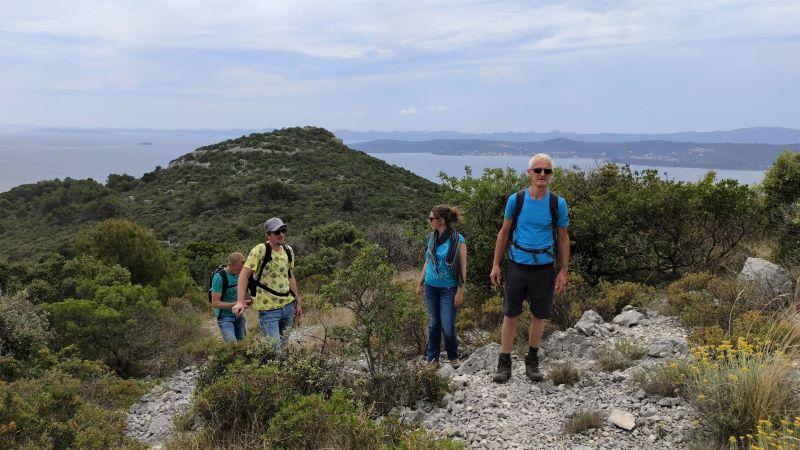 naar de top van Ugljan met Belgen in Kroatië