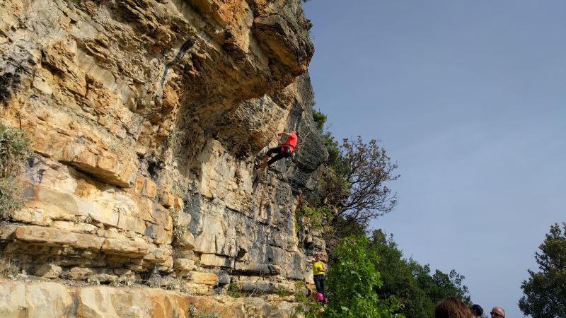 klimmen op de rotsen, Rijeka Bijela