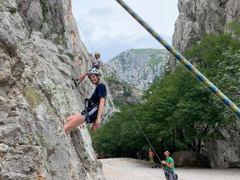 Bergbeklimmen in Paklenica voor kinderen