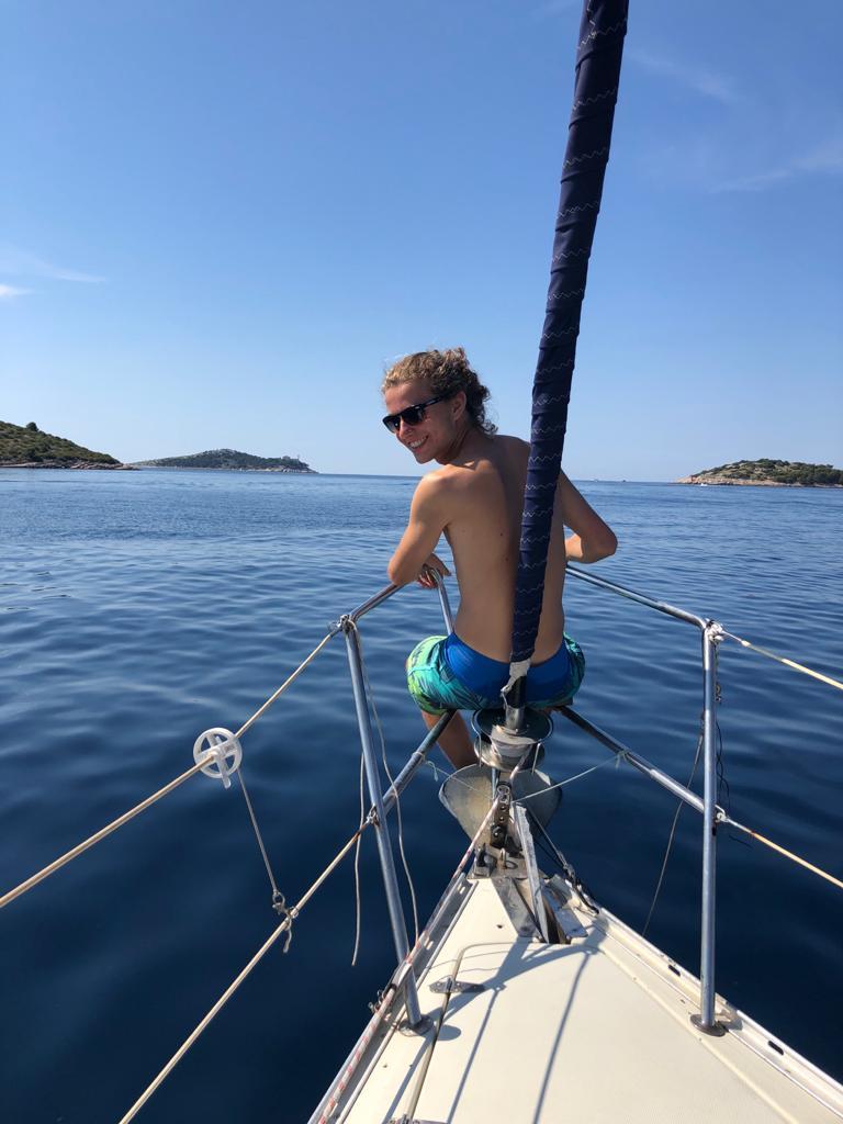 op de zeilboot naar Kornati